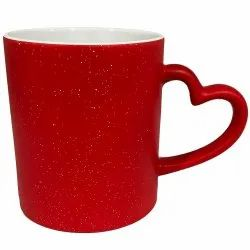 Sparkle Heart Handle Magic Mug
