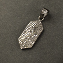Pave Diamond Hexagon Pendant