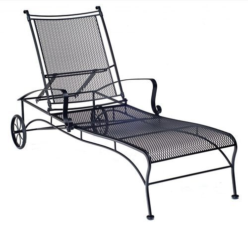 Wrought Iron Chaise Lounge Replacement Wheels Patio Chairs At Rs