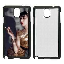 White And Black Plastic Sublimation Samsung 2D Mobile Cover