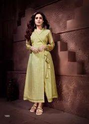 Roohi New Stylish Bentely Checks Designer Kurtis