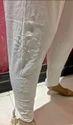White Cotton Designer Ethnic Legging Straight Churidar
