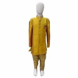 Small , Medium Plain Fancy Boys Indo Western Suit