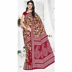 Casual Wear Ladies Printed Kota Cotton Saree, Without Blouse, 5.5 Meter