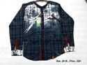 Boys Denim Check Shirt