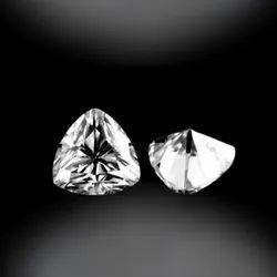 White Trillion Cut Moissanite Stone