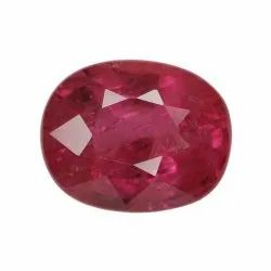 Sparkly Pinkish Oval - Cut Ruby Gemstone