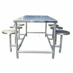 Chirag Rectangular Stainless Steel Dining Table, For Restaurant