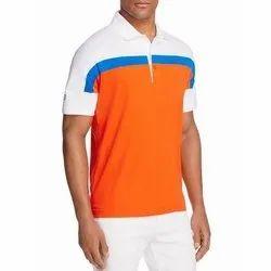 Polo Neck Men Half Sleeve Polyester T Shirt