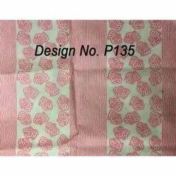 P135 Non woven Metallic Printed Fabric