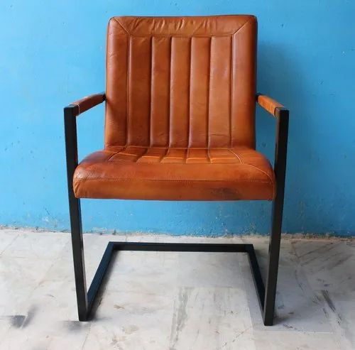 Admirable Vintage Goat Leather Dining Chair Gmtry Best Dining Table And Chair Ideas Images Gmtryco