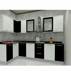 L Shape PVC Modular Kitchen, Warranty: 10 Years