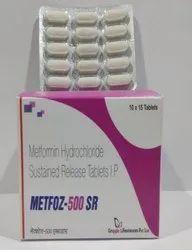 Metformin Hydrochloride 500 Mg SR Tablets