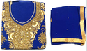 Blue Georgette Ladies Handwork Suit 02