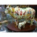 Marble Kamdhenu Cow Statue