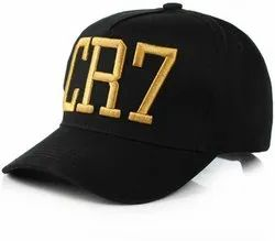 CR7 Black Cotton Baseball Cap