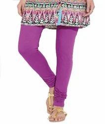 Purpel Cotton Purple Leggings For Women, Size: All