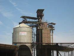 Outdoor Grain Storage Silo