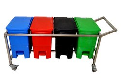 Bio Medical Trolley Waste Bin