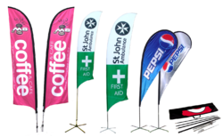 Multicolor Flags Banner