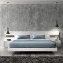Antique White Modern Bed