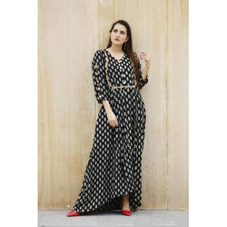 Printed Ladies Long Dress