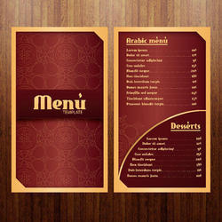 Menu Card Designing Services