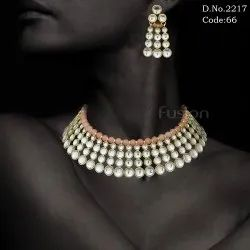 Indian Wedding Kundan Necklace Set