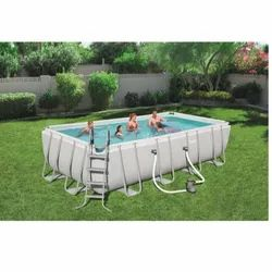 Blue Indoor PVC Swimming Pools, For Residential, Options Available