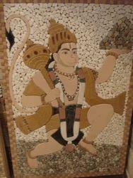 God Hanuman Mural