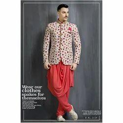 Cotton Mens Ethnic Sherwani, Size: S-XXL