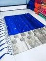 Casual Wear Cotton Embroidery Saree, 5.5 m (separate blouse piece)
