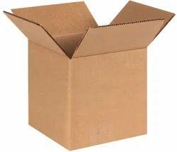 Brown Rectangular Kraft Corrugated Boxes