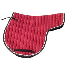 Cotton Dressage Red Saddle Pads
