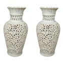 Soapstone Beautiful Flowers Vases