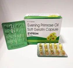 Evening Primrose Oil Softgel Gelatin Capsule, Curivo, Packaging Size: 10x10 Capsules