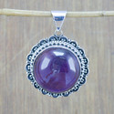 925 STERLING SILVER LATEST DESIGNER JEWELRY AMETHYST STONE PENDANT WP-5792