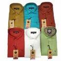 Men Plain Cotton Casual Wear Shirt