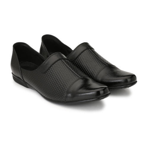 d2a2aa3ec03 Men Black Leather Semi Formal Shoe
