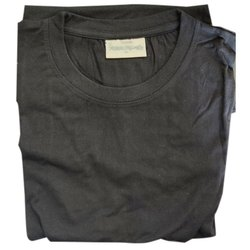 Cotton Plain Mens Black Round Neck T Shirt, Packaging Type: Packet