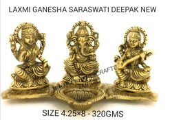 Golden Plated Laxmi Ganesh Swaswati