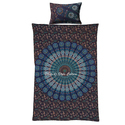 Peacock Feather Blue Queen Quilt Duvet Cover