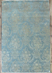 Light Blue Hand Made Silk Rugs