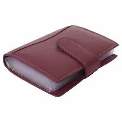 Red Leather Multi Card Holder