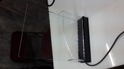 Acrylic Engraved Brochure Holder With LED