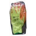 Parrot Green And Orange Full Finger Woolen Hand Gloves