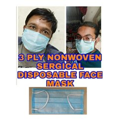 Nonwoven Ear Loop Mount Surgical 3 Ply Face Mask