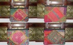 Cotton Hyderabadi Kantha Pouches
