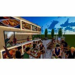 Restaurant Interior Designing Service, Work Provided: Wood Work & Furniture