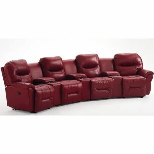 4 Seater Leather Recliner Sofa Set